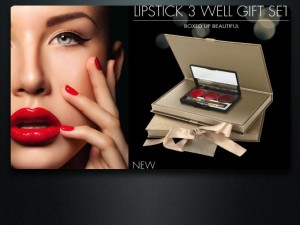 3 Well Lipstick Palette Gift Set