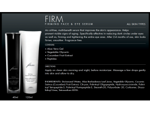 Firming Face & Eye Serum