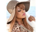 Human Hair Lace Front Wig Shown in Malaysian Yaki Texture Custom Color With Bangs
